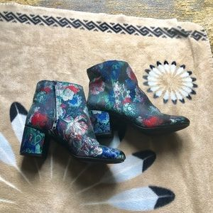 Beautiful floral ankle boots